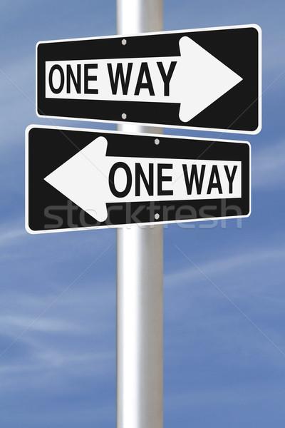 One Way Street Signs  Stock photo © lorenzodelacosta