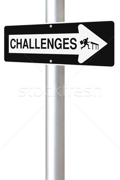 Challenges This Way  Stock photo © lorenzodelacosta