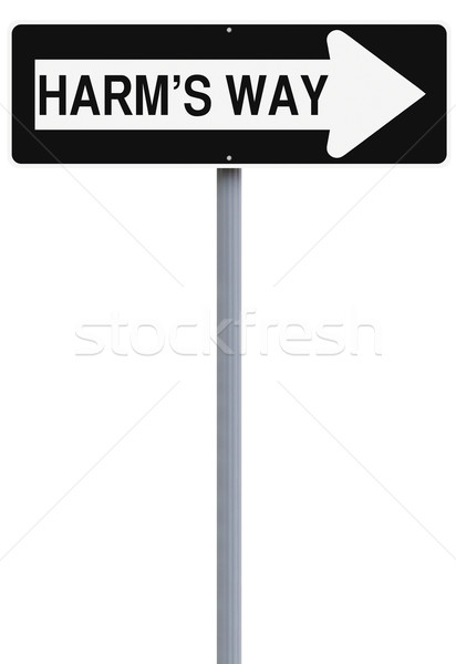 út egyirányú utca mutat felirat veszély irányítás Stock fotó © lorenzodelacosta