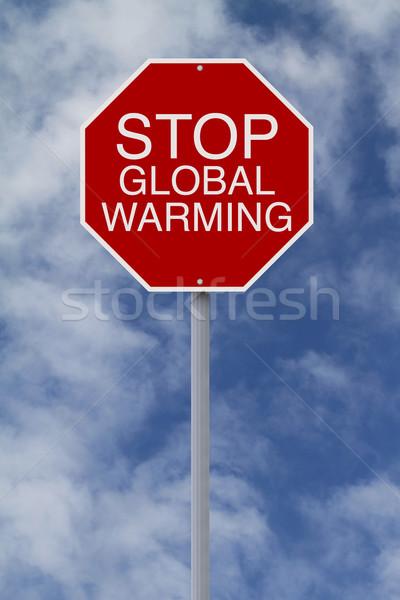 Stop Global Warming  Stock photo © lorenzodelacosta