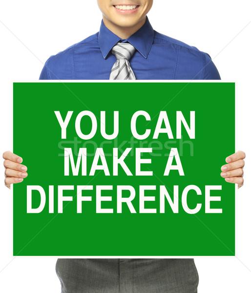 можете разница человека служба Сток-фото © lorenzodelacosta