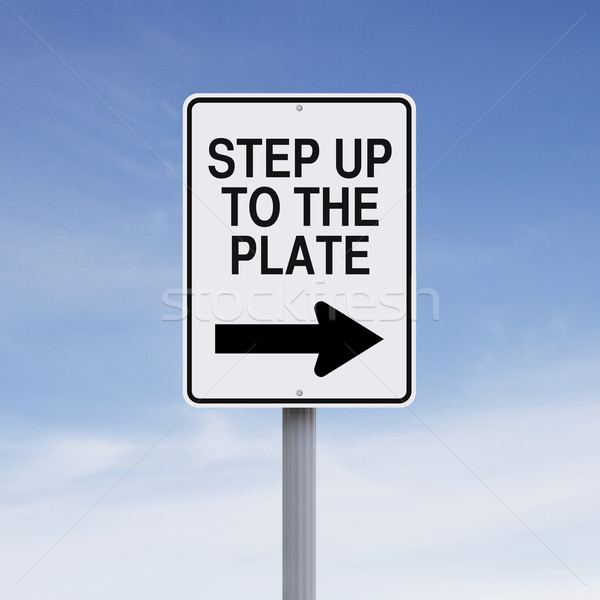 Step Up to the Plate  Stock photo © lorenzodelacosta