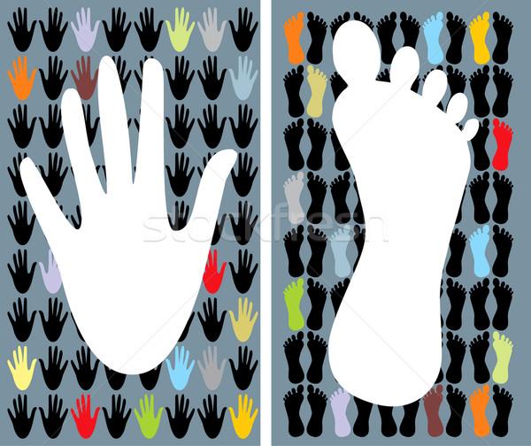 Vector hand & foot Stock photo © lossik