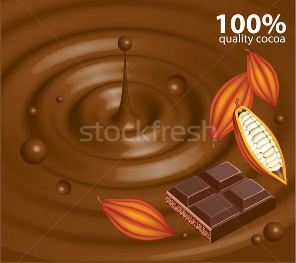 抽象的な チョコレート 食品 光 暗い ストックフォト © lossik