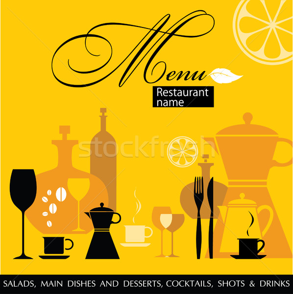 Restaurant menu vector Stock photo © lossik