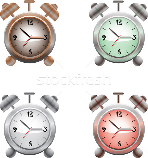 Old time analog alarm clock, vector Stock photo © lossik