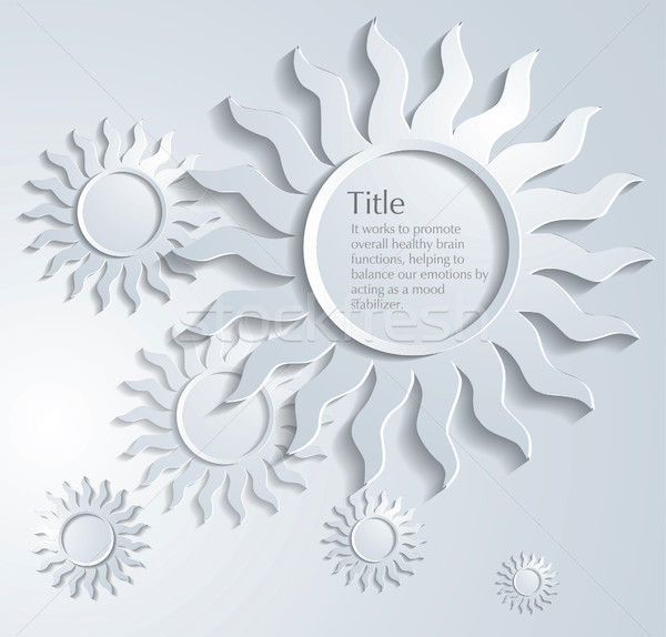 Vector card with the stylized sun Stock photo © lossik