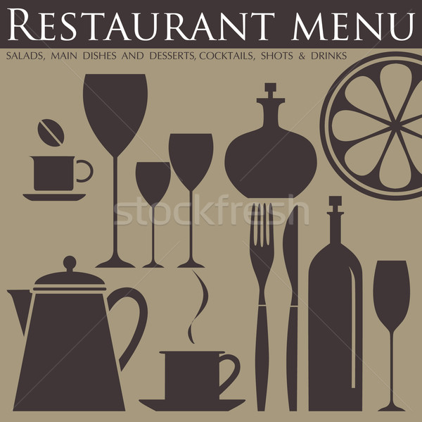 Restaurant menu Stock photo © lossik