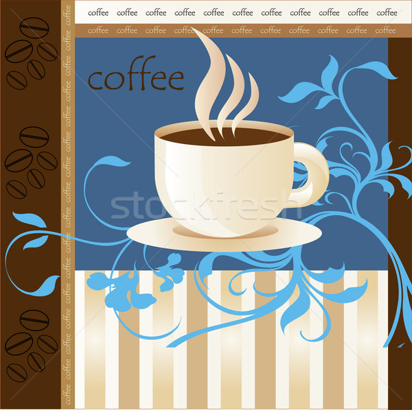 Cup of coffee with abstract design elements Stock photo © lossik