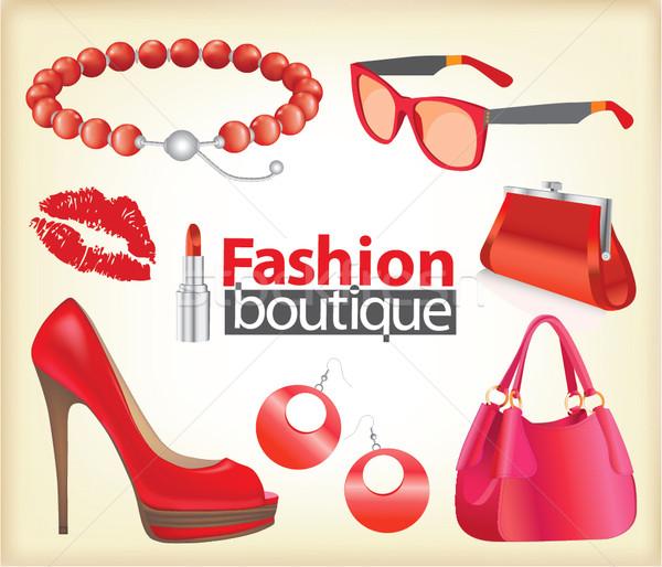 ファッション ブティック セット 定型化された 女性 ストックフォト © lossik