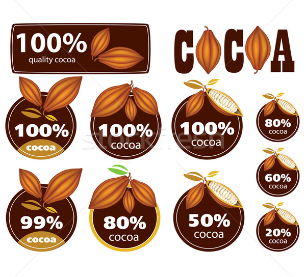 Percent Cocoa Seal / Mark / Icon. Stock photo © lossik