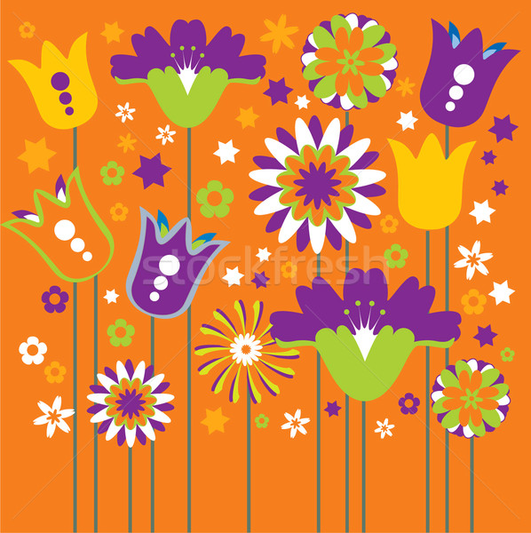 Vector illustration flowers Stock photo © lossik