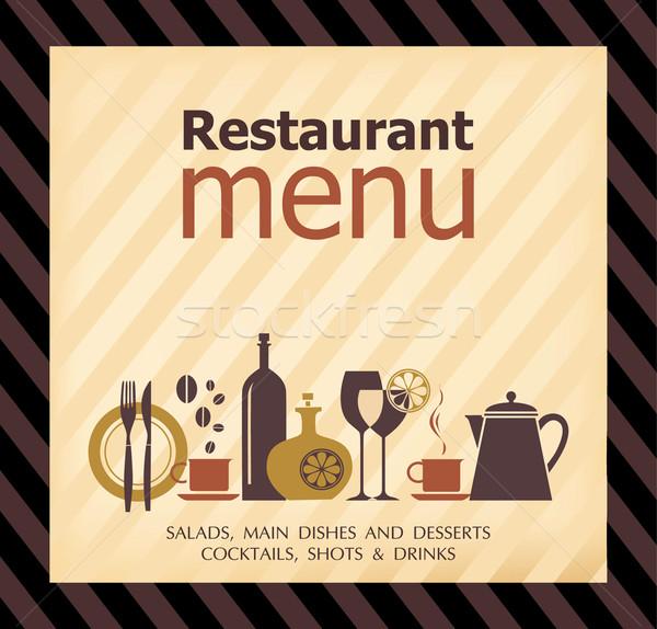Restoran · dizayn · doku · cam · duman · kafe - vektör ...