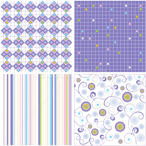 pattern combo (vector) - illustrated pattern Stock photo © lossik