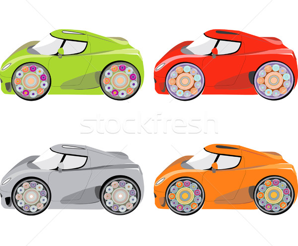 complete set of car vector Stock photo © lossik