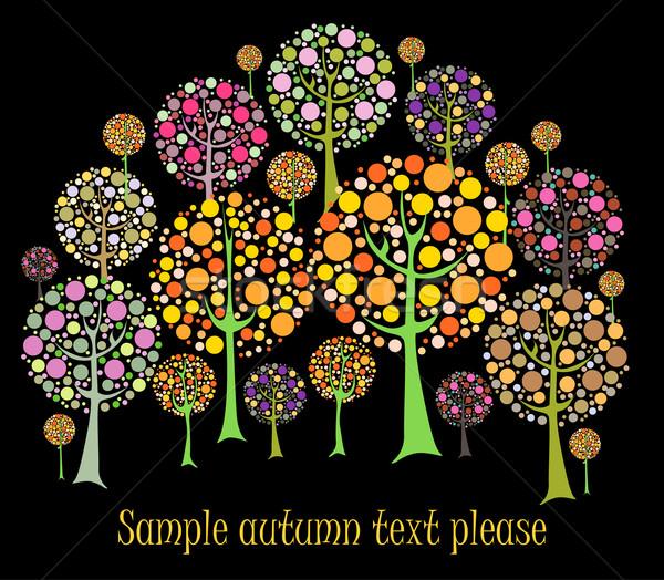 美しい 秋 ツリー ベクトル カード デザイン ストックフォト © lossik
