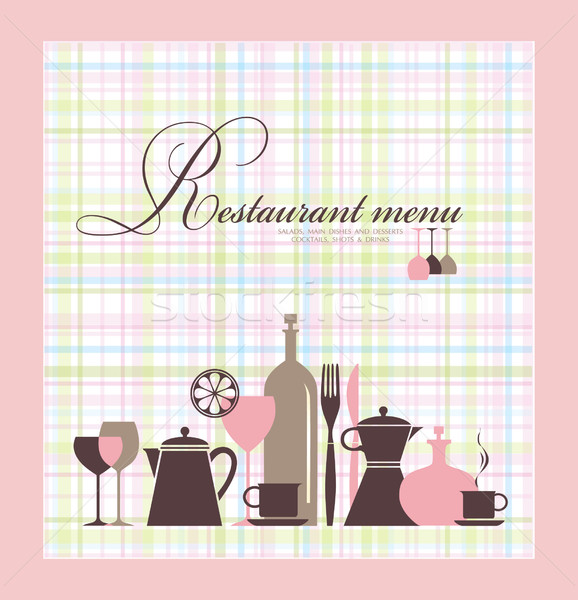 Restaurant menu design Stock photo © lossik