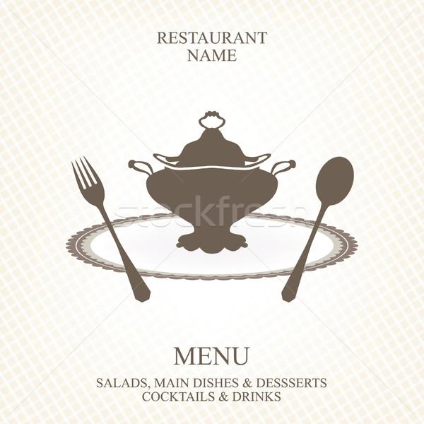 メニュー ベクトル パーティ フレーム レストラン バー ストックフォト © lossik