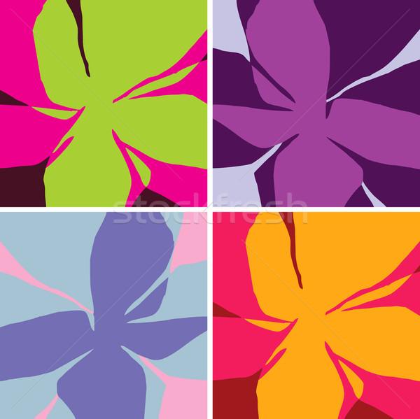 ベクトル 構造 定型化された 花ベクトル 花 抽象的な ストックフォト © lossik