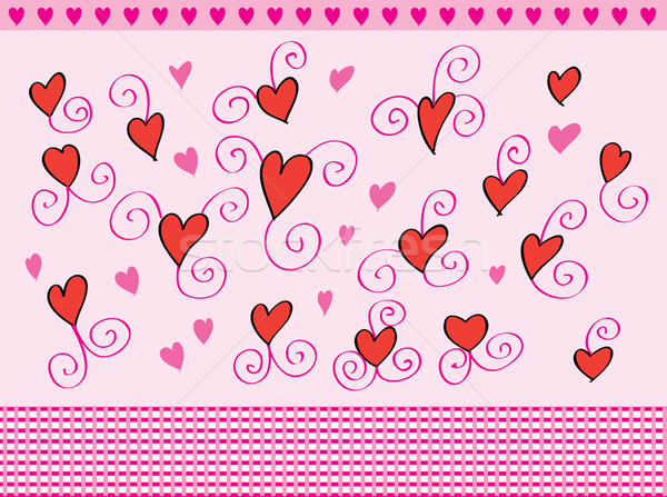 Hearts background Stock photo © lossik