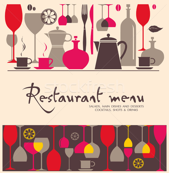 Vector. Restaurant menu design Stock photo © lossik