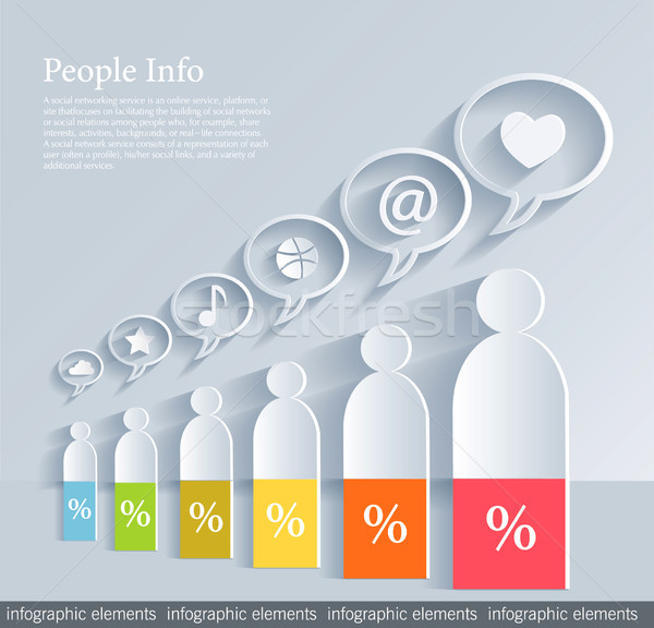 Social media concept Stock photo © lossik