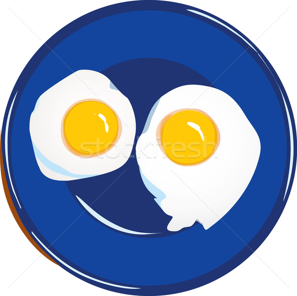 Vector of egg meal fried eggs Stock photo © lossik