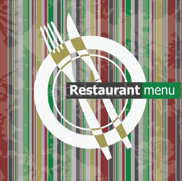 色 レストラン メニュー テクスチャ 煙 レトロな ストックフォト © lossik