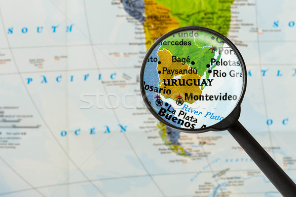 map of Eastern Republic of Uruguay  Stock photo © lostation
