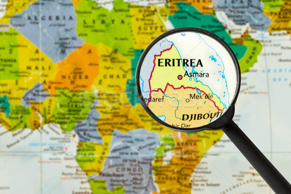 Map of State of Eritrea Stock photo © lostation