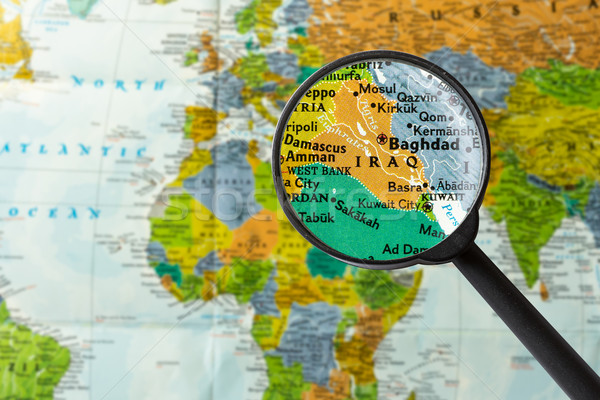 Map of Iraq Stock photo © lostation