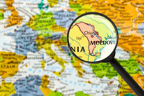 Map of Republic of Moldova Stock photo © lostation