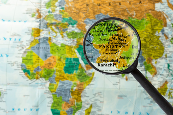 Map of Pakistan Stock photo © lostation
