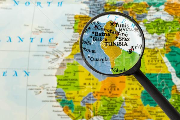 Map of Tunisian Republic Stock photo © lostation