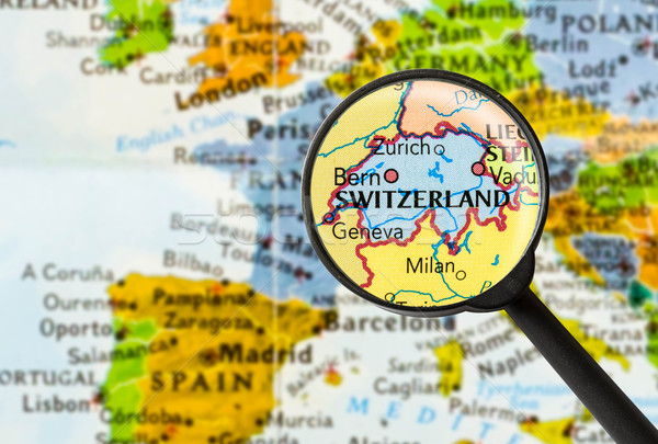 Map of Swiss Confederation Stock photo © lostation