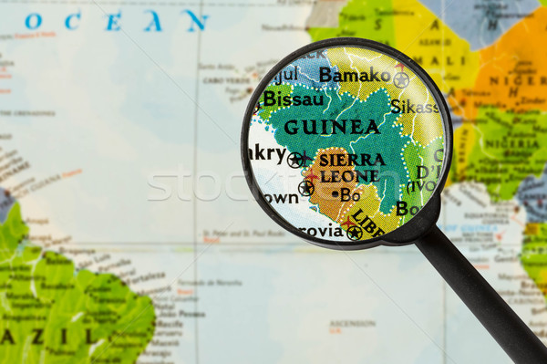 Map of Republic of Guinea Stock photo © lostation