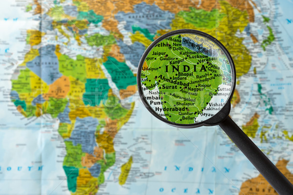 Map of India Stock photo © lostation