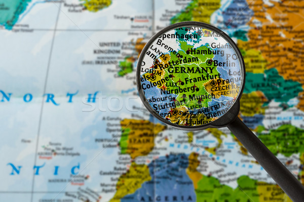Map of Germany Stock photo © lostation