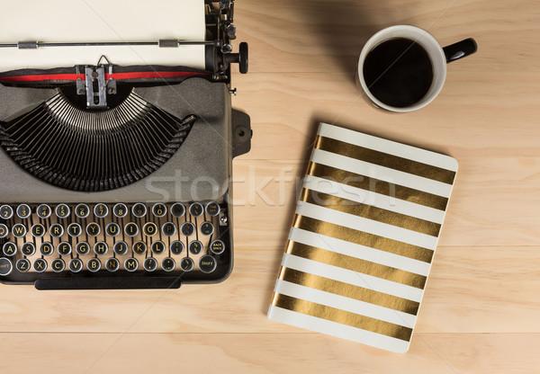 vintage typewriter with work stuff overhead  Stock photo © lostation