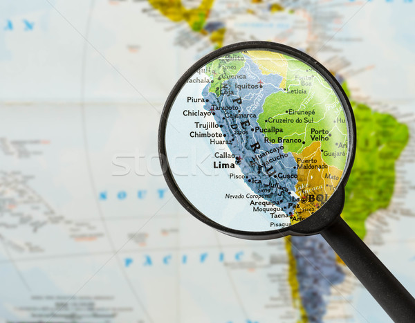 map of Republic of Peru  Stock photo © lostation