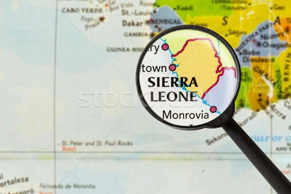 Map of Republic of Sierra Leone Stock photo © lostation