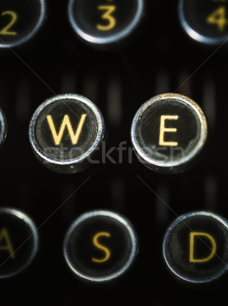 close up of keys of Vintage typewriter  Stock photo © lostation