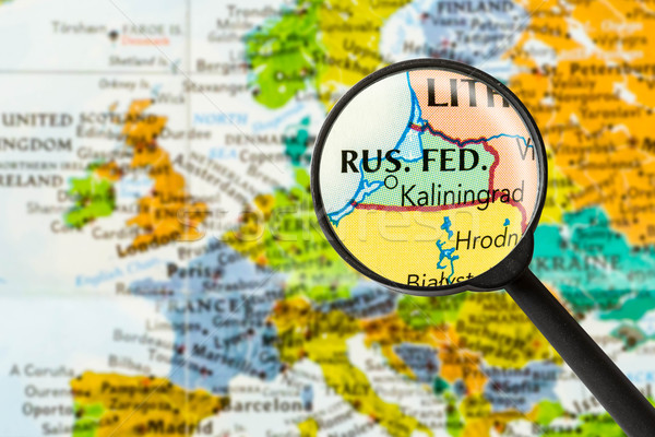 Map of Kaliningrad Stock photo © lostation