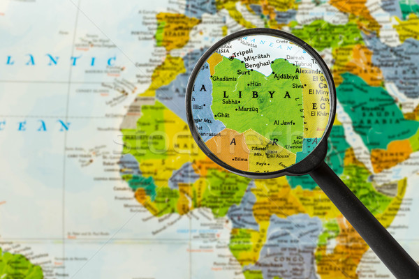 Map of State of Libya Stock photo © lostation