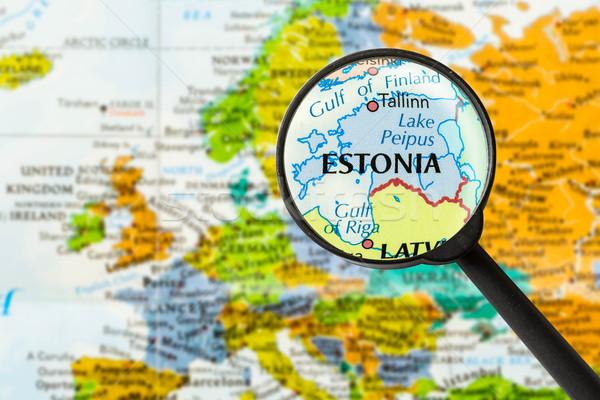 Map of Republic of Estonia Stock photo © lostation