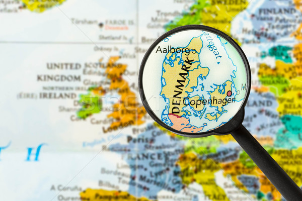 Map of Kingdom of Denmark Stock photo © lostation