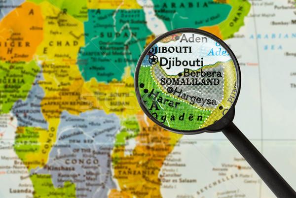 Map of Republic of Somaliland Stock photo © lostation