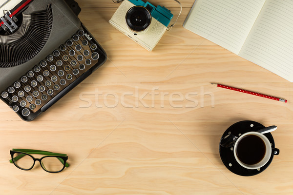 Top view of old typewriter Stock photo © lostation
