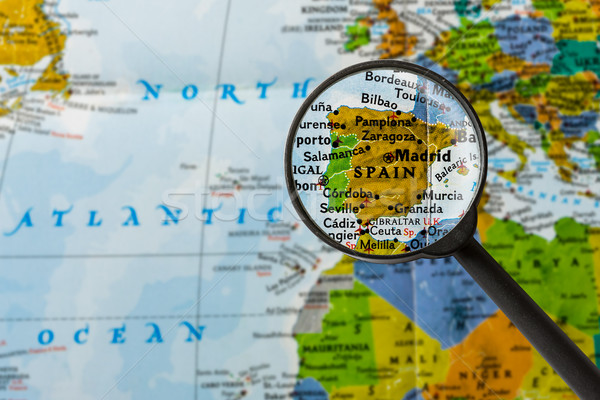 Map of Spain Stock photo © lostation