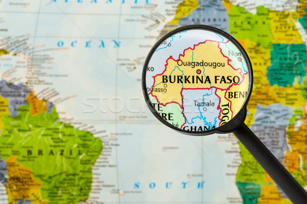 Map of Burkina Faso Stock photo © lostation